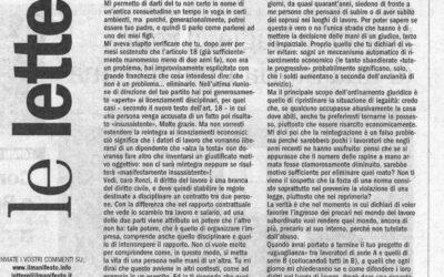 """Articolo 18 – """"Caro Renzi, così tuteli gli abusi"""""""