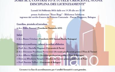 Interventi convegno di Bologna del 16 febbraio 2015 in preparazione del convegno nazionale AGI del 2015